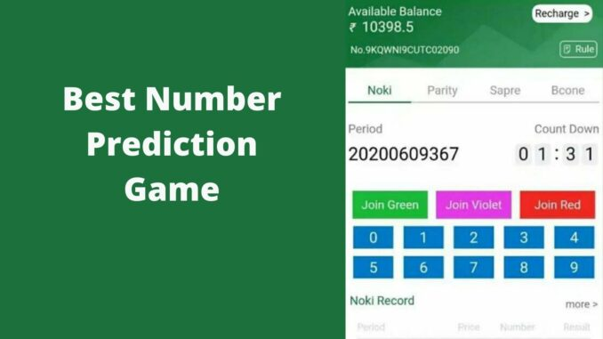 Number Prediction Game